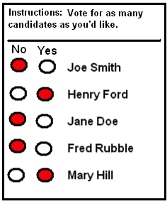Example of a ballot paper.