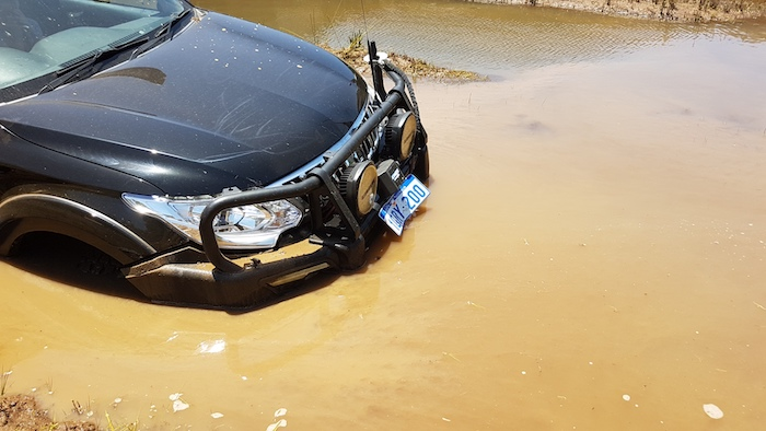 Rego plates always flip up on entering water unless they are secured at the lower edge.