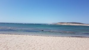 Chinaman Beach at the mouth of the Murchison River.