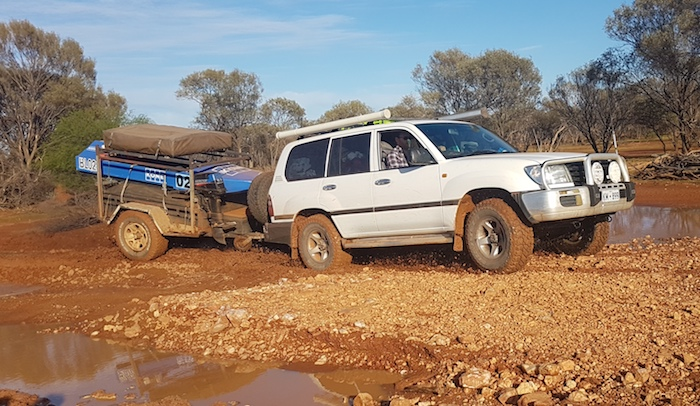 Alan made easy work of getting through in the Landcruiser.