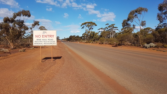 Mineral Resources' haul road.