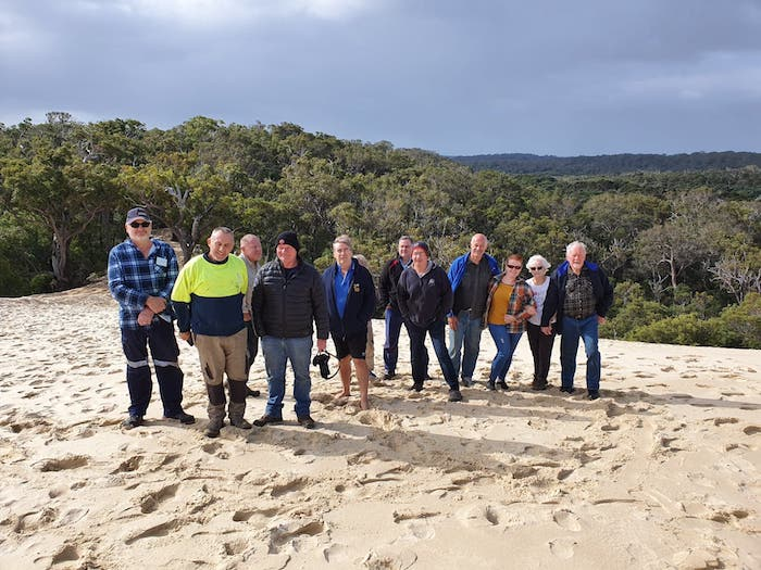 Group at the top of the first dune.