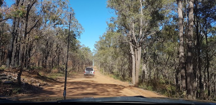 On Scarp Road after leaving North Dandalup Dam.