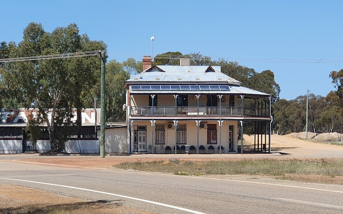 The former hotel at Burracoppin. Now a private residence.