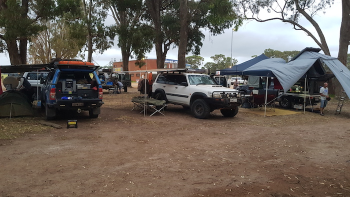 Our campsite at the Esperance showgrounds.