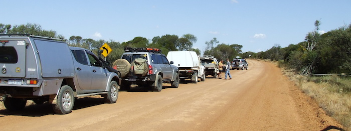Our convoy at Kodjerning Well.