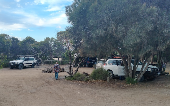 Campground at Starvation Boat Harbour.