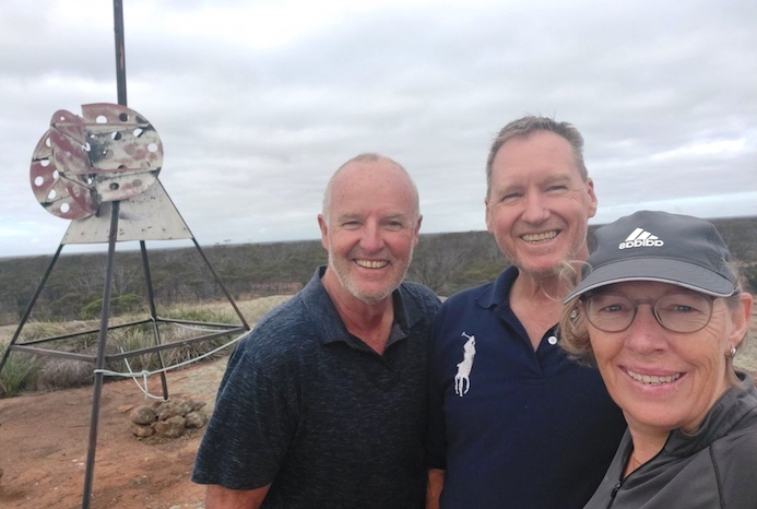 Scott, Peter and Lone on top of Booanya Rock.