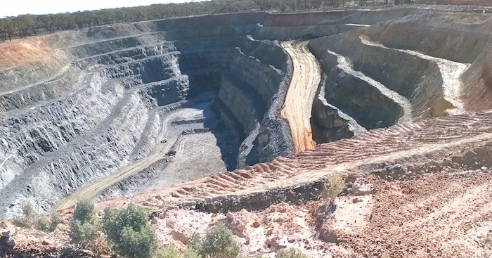 The latest open pit at the Edna May Mine.