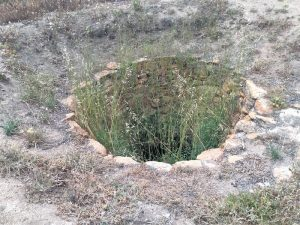 The well retains water.