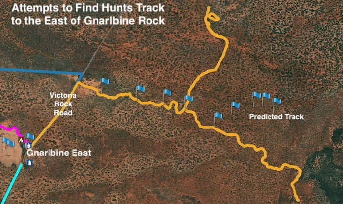 The tracks we were able to find headed too far north or too far south-east.
